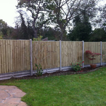 Concrete posts with Featheredge panels 2