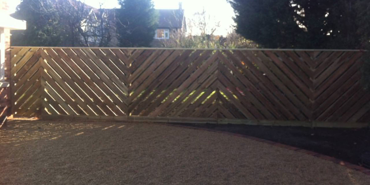 Chevron fencing in Nottingham