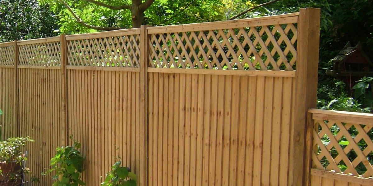Featheredge panel with trellis