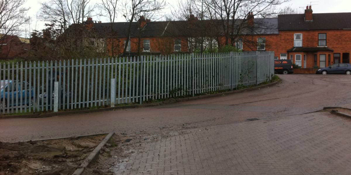 Palisade fencing in Rugby